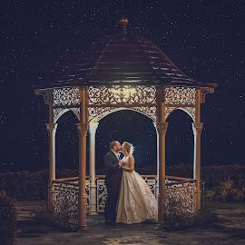 Under the stars by Paul Duane - Wedding Bride & Groom ( ireland, wedding, night, bride, groom )