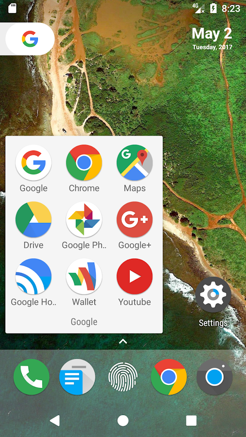 N Launcher Pro - Nougat 7.0 Screenshot 1