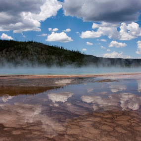 Prismatic Springs - Yellowstone National Park by Irene Helmholdt - Travel Locations Landmarks ( yellowstone, national park, prismatic spring, springs )