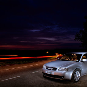 Night shot of Audi S3 - 8L model by Steve McNiven-Photography - Transportation Automobiles ( audi, revo, remapping, remap, 8l, rs tuning, rs3, s3 )