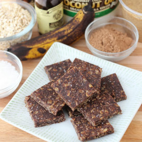 No Bake Cocoa Banana Bars