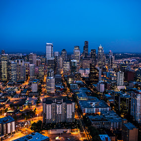 Seattle by Dave Tyler - City,  Street & Park  Skylines