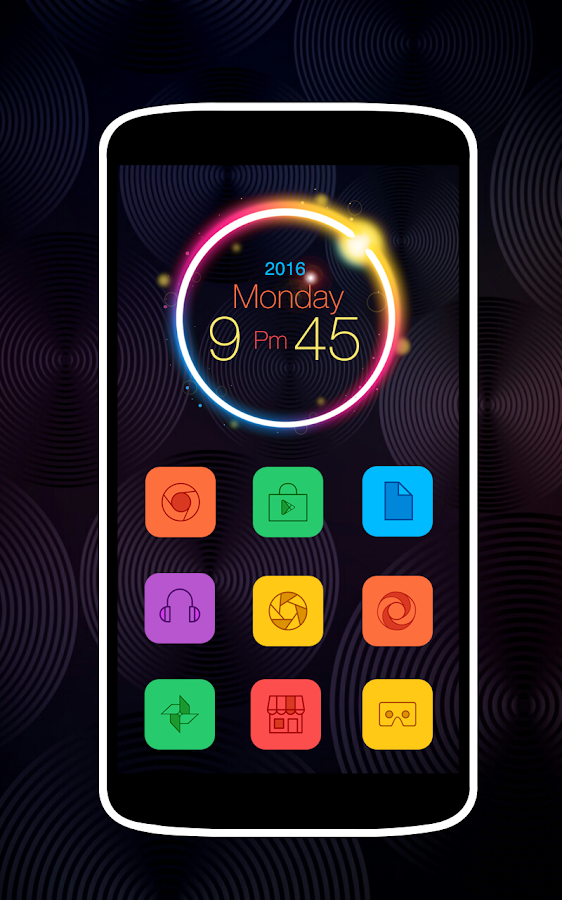 Colorful Icons Pack & Theme Screenshot 2