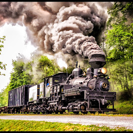 Shay #4 by James Eickman - Transportation Trains