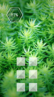 Green grass shoots theme - screenshot