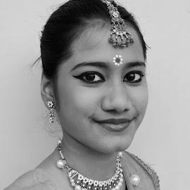 Tisha by SANGEETA MENA  - Black & White Portraits & People