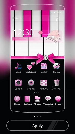 Pink Piano Theme Pink Tiles For PC