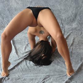 A Tattoo Crown. by Marcel Cintalan - Sports & Fitness Fitness ( woman, crown, artistic, sports, tattoo, gymnastics )
