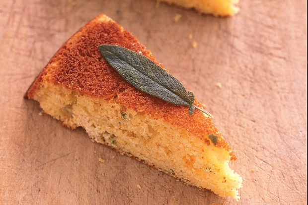 Sage and Honey Skillet Cornbread Recipe | Yummly