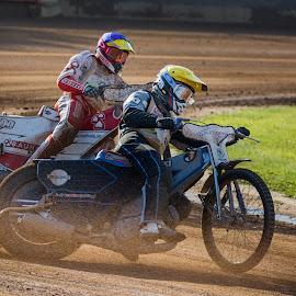 Across the Dust by Jiri Cetkovsky - Sports & Fitness Motorsports ( speedway, dust, boys, motorcycling, race )