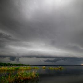 Stormy Monday by Scott Helfrich - Landscapes Weather ( clouds, nature wild wildlife florida scotthelfrich naturephotography wil, nature, florida, scotthelfrich, cloudy, lake, landscape, storm, rain )