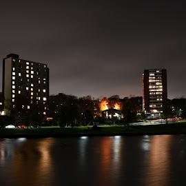 by John Geddes - City,  Street & Park  Night