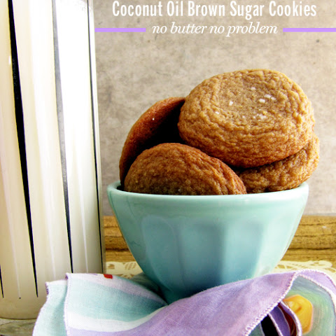 Coconut Oil Brown Sugar Cookies