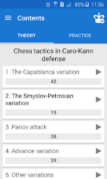 Chess Tactics in Caro-Kann Def apk screenshot