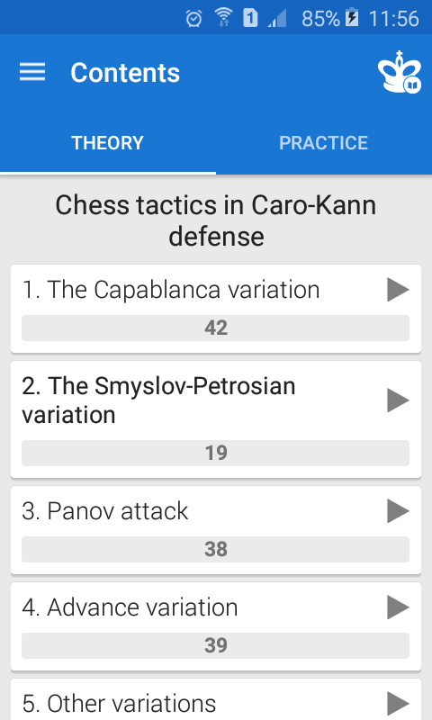 Chess Tactics in Caro-Kann Def Screenshot 1