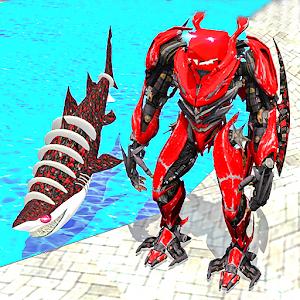 Warrior Robot Shark Game:Angry Shark Simulator App For PC (Windows & MAC)