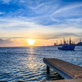 Blue Aruba by Kathy Suttles - Landscapes Waterscapes