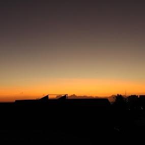 Waikiki sunset  by Michael Guerrero - Landscapes Sunsets & Sunrises