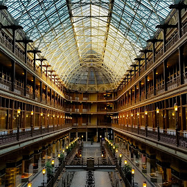 The Old Arcade by Steve Gargalianos - Buildings & Architecture Public & Historical ( clevelands arcade, old arcade, buildings, historical, architecture, cleveland ohio, arcade, cleveland )