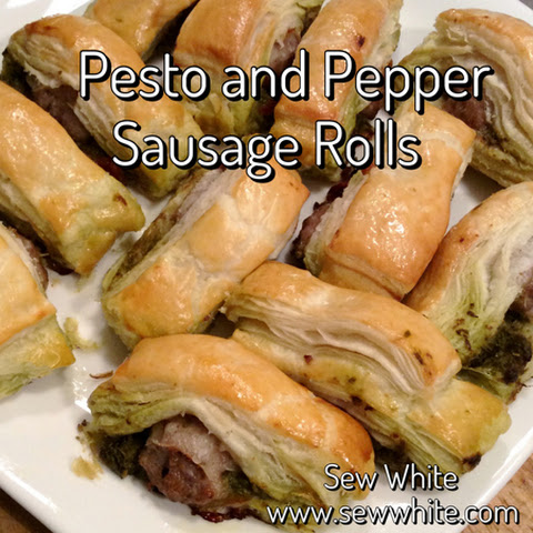 Pesto and Red Pepper Sausage Rolls