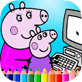 Free Coloring Book of Peppy Pig APK for Windows 8