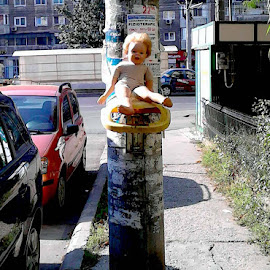 no comment by Mihai Nita - Instagram & Mobile Android ( doll, recycling, street, street view, fate )