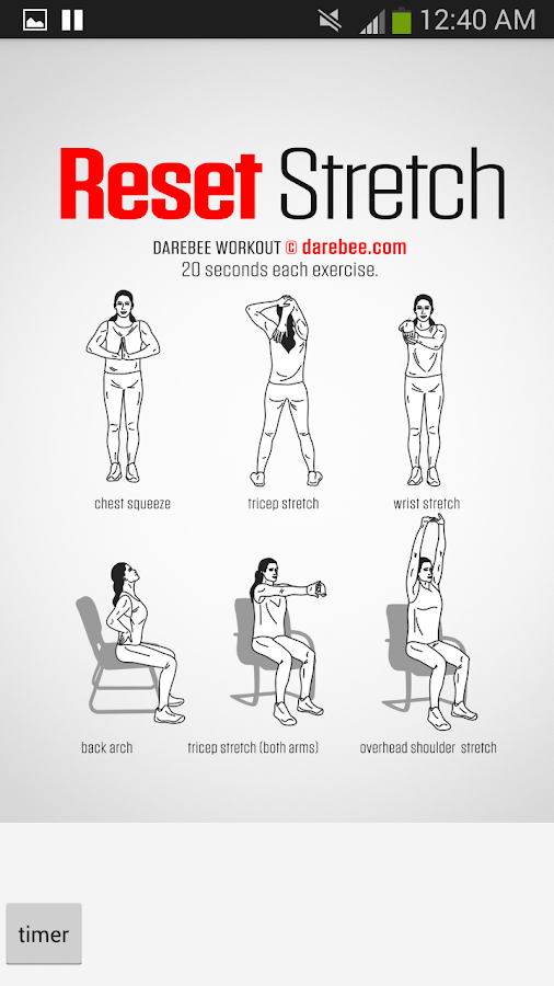 100 Office Workouts Screenshot