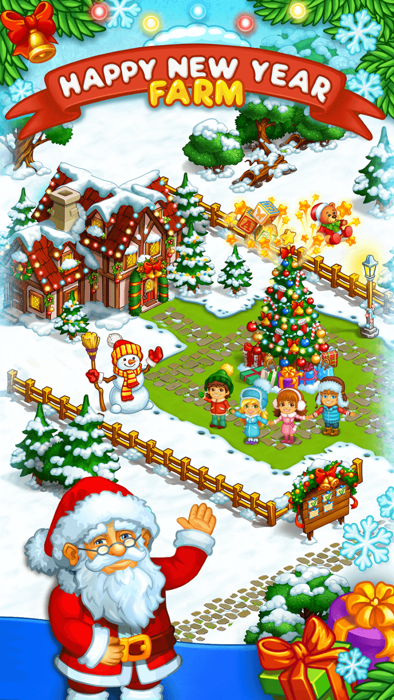 Farm Snow: Happy Christmas Story With Toys & Santa Screenshot 17