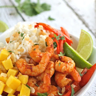 Spicy Citrus Shrimp and Coconut Rice Bowls