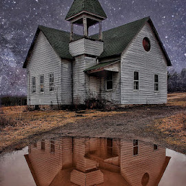 Twilight Reflections by Diane Ljungquist - Buildings & Architecture Decaying & Abandoned (  )
