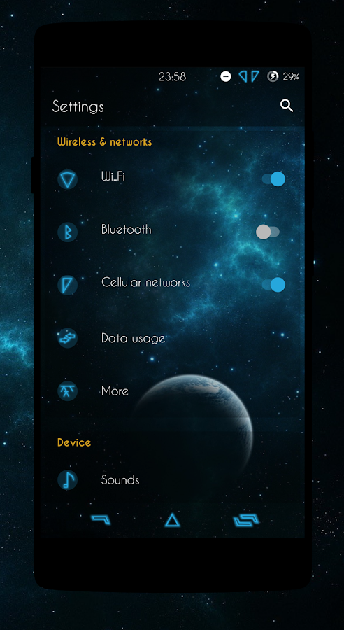 Galactic - CM13/12.X Theme Screenshot 1