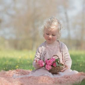Roses by Danuta Czapka - Babies & Children Child Portraits ( pink flowers, roses, child portrait, child photography, childhood,  )