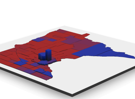 Create 3D County Maps Using Density as Z-Axis