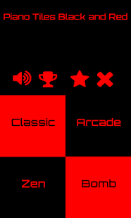 Piano Tiles 2 Black and Red - screenshot