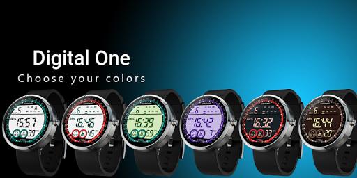 Digital One Watch Face - screenshot