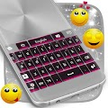 Free Download Pink Chrome Keyboard Theme APK for Samsung
