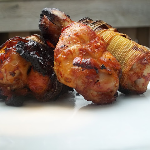 Tomatillo and Chile Wings in Corn Husks