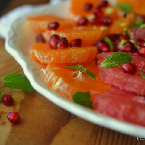 Mixed Citrus Salad with Pomegranate, Mint, and Pistachio