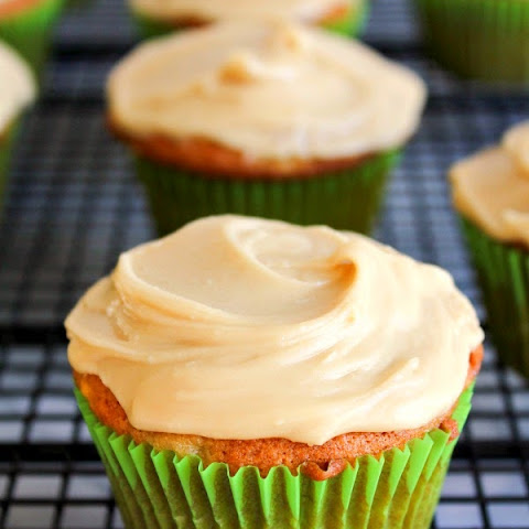 Banana Cupcakes with Brown Sugar Frosting