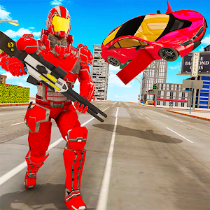 Flying Car Robot Transformation Game Online PC (Windows / MAC)