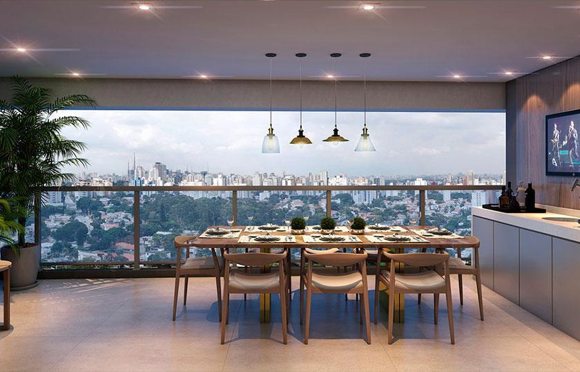 Perspectiva do Terraço de 102 m²