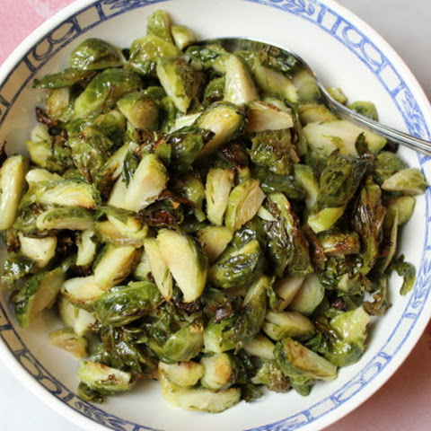 Salted Maple Roasted Brussel Sprouts