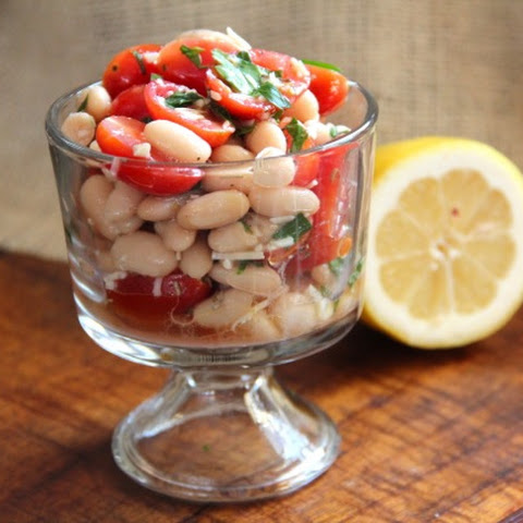 Grape Tomato & White Bean Salad