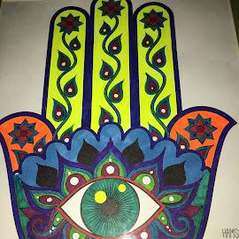 Third Eye by Linda Tribuli - Drawing All Drawing ( hand-third eye )