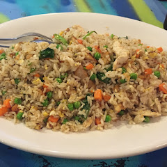 Fried rice with chicken...portion size is huge!