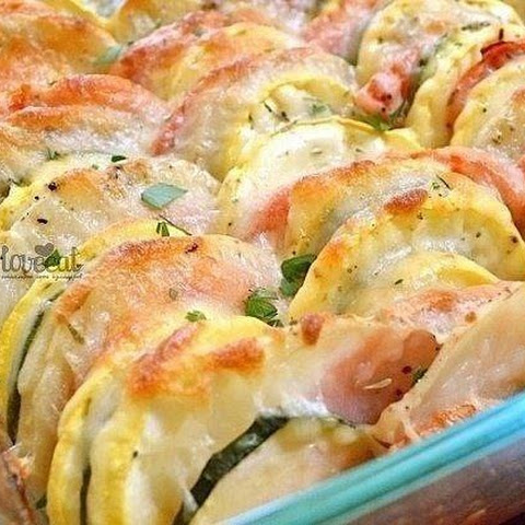 Colorful Vegetables, Baked With Cheese