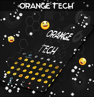 Orange Tech For GO Keyboard - screenshot
