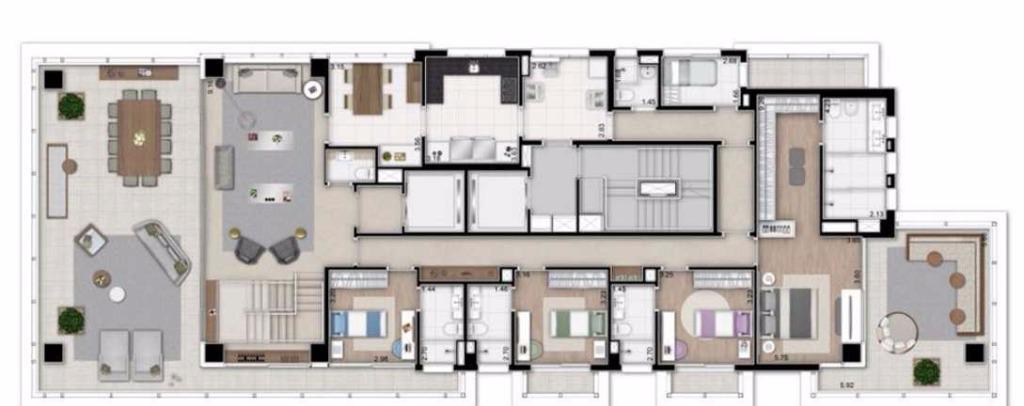 Cobertura Duplex Inferior - 592 m²