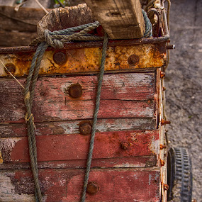 Old Faithful by Vassilios Zacharitsev - Artistic Objects Other Objects ( hdr, wood, color, texture, cart, rust )