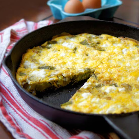 Asparagus, Leek, and Goat Cheese Frittata